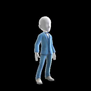 Sequin Blue Tuxedo