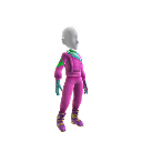 80&#39;s Pink Ski Outfit