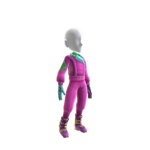 80's Pink Ski Outfit