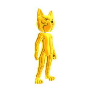 Catsuit Gold Chrome