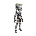Halo Spartan Armor - Silver