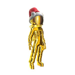 Holiday Gold Astronaut