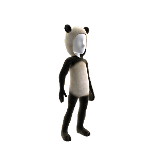 Fato de urso panda