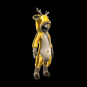 Gold Reindeer Onesie