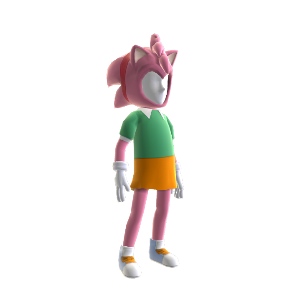 Avatarkostuum (Classic Amy-Rose)