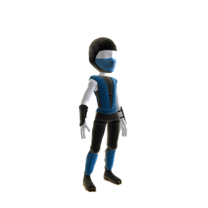 Retro Ninja Outfit - Blue