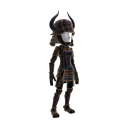 Black Horned Samurai Costume 