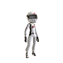 White Racing Suit
