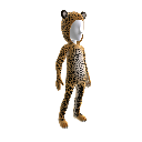Traje de leopardo africano 