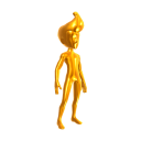 Gold Body Suit - Gold Hair