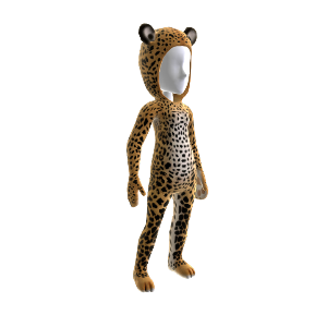 Traje de leopardo africano