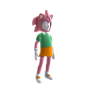 Traje de avatar de la Amy Rose clsica