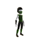 Retro Ninja Outfit - Green