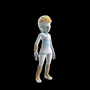 Disfraz de ninja blanco