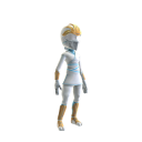 Costume de ninja blanc