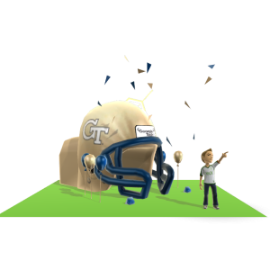 Georgia Tech Inflatable Helmet