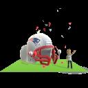 Patriots Inflatable Helmet