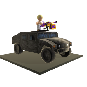 Toy Humvee Gunner - Urban