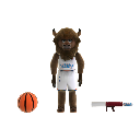 Rumble the Bison Mascot 