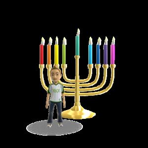 Hanukkah - Color Candles