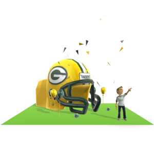 Packers Inflatable Helmet