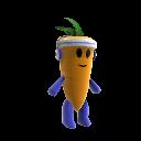 Peluche mascotte carotte