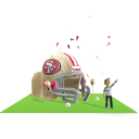 49ers Inflatable Helmet