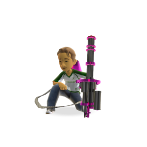 Mega Toy Mini Gun - Purple