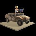Toy Humvee Gunner - Camo
