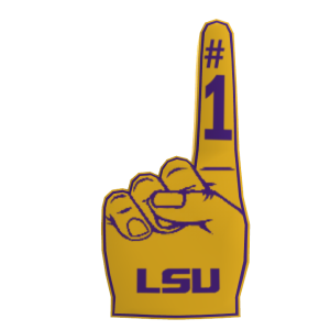 LSU Foam Finger
