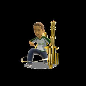 Mega Toy Mini Gun - Gold