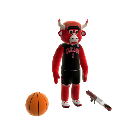 Mascote Benny the Bull 