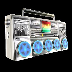 Boombox des Hi-Def