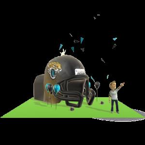 Jaguars Inflatable Helmet