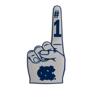 UNC Foam Finger