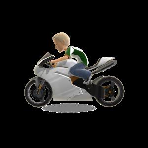 Motor Bike - White Mega