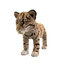 Tigre dientes de sable (peluche) 