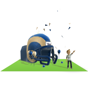 Rams Inflatable Helmet