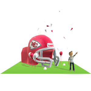 Chiefs Inflatable Helmet