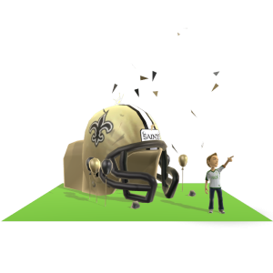 Saints Inflatable Helmet