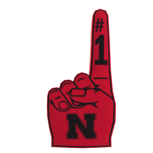 Nebraska Foam Finger