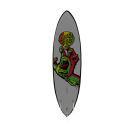 Rasta Hand Surfboard