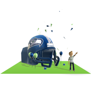 Seahawks Inflatable Helmet
