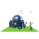 Seahawks Inflatable Helmet