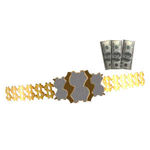 Million Dollar Man Belt and Cash