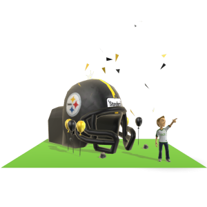Steelers Inflatable Helmet