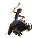 Warthog Mount and Toy Spear 