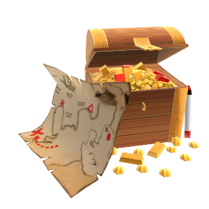 Treasure Chest & Map