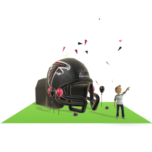 Falcons Inflatable Helmet