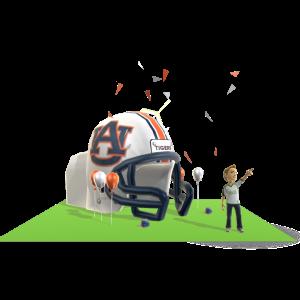 Auburn Inflatable Helmet
